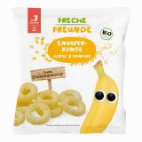 FRECHE FREUNDE BIO Krúžky chrumkavé Proso a banán 7 m, 20 g