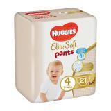 4x HUGGIES Elite Soft Pants jednorázové pleny vel. 4, 21 ks