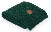 CEBA Deka pletená v dárkovém balení 90 x 90 Rybí kost Emerald