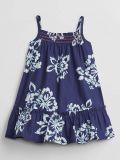GAP Šaty Dark Blue Flowers dívka 6-12m