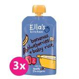 3x ELLA´S Kitchen Dětská rýže – Banán aborůvky 120 g