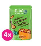 4x ELLA´S Kitchen Karibské kuře smangem 190 g