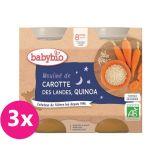 3x BABYBIO Večerní menu mrkvové mouliné a quinoa 2 x 200 g