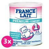3x FRANCE LAIT Premium Comfort 1 (400 g) - dojčenské mlieko