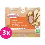 3x BABYBIO Příkrm pastinák šunka gruyere - maso-zeleninový příkrm (2x200 g)