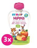 3x HiPP HiPPiS BIO 100% ovoce Jablko-Broskev-Lesní ovoce 100 g – ovocný příkrm