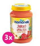 3x HAMÁNEK S malinami (190 g) - ovocný příkrm
