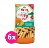 6x HOLLE Dětské Bio Happy tyčinky dýně-rozmarýn, 100 g (3+)