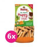 6x HOLLE Dětské Bio Happy tyčinky mrkev-fenykl, 100 g (3+)