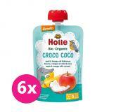 6x HOLLE Croco Coco Bio ovocné pyré jablko, mango, kokos, 100 g (8 m+)