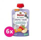 6x HOLLE Tropic Tiger Bio ovocné pyré jablko, mango a maracuja, 100 g (8 m+)