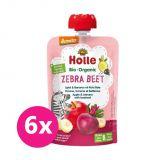 6x HOLLE Zebra Beet Bio ovocné pyré jablko, banán a červená repa, 100 g (6 m+)