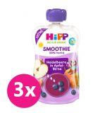 3x HiPP BIO Smoothie Jablko-Hruška-Borůvky, 100 g – ovocný příkrm