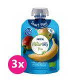 3x NESTLÉ Naturnes Bio kapsička hruška, jablko, banán, 90g