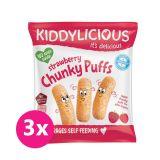 3x KIDDYLICIOUS Chrumky - Jahoda 12 g