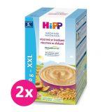 2x HiPP Kaša mliečna Praebiotik viaczrnná so slivkami 450 g