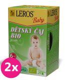 2x LEROS Baby BIO Dětský čaj bylinný