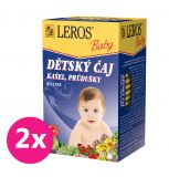 2x LEROS Baby Dětský čaj Kašel, prúdušky