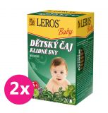 2x LEROS Baby Dětský čaj Klidné sny