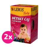 2x LEROS Baby Dětský čaj S ovocem