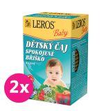 2x LEROS Baby Dětský čaj Spokojné bříško