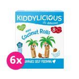6x KIDDYLICIOUS Mini kokosové trubičky