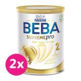 2x BEBA SUPREMEpro 2, mléčná kojenecká výživa 800 g