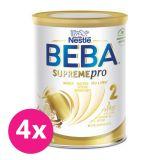 4x BEBA SUPREMEpro 2, mléčná kojenecká výživa 800 g