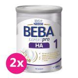 2x BEBA EXPERTpro HA 1, mliečna dojčenská výživa 800 g