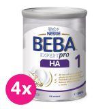 4x BEBA EXPERTpro HA 1, mliečna dojčenská výživa 800 g