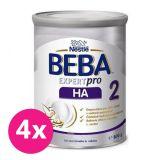 4x BEBA EXPERTpro HA 2, mliečna dojčenská výživa 800 g