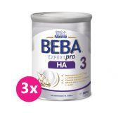 3x BEBA EXPERTpro HA 3, mléčná kojenecká výživa 800 g