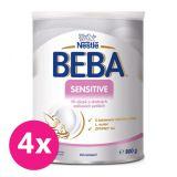 4x BEBA SENSITIVE, mliečna dojčenská výživa 800 g