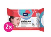 2x BELLA Make-up odličovací vlhčené ubrousky, 20 ks