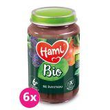 6x HAMI BIO Ovocný příkrm Se švestkou 190 g, 6+