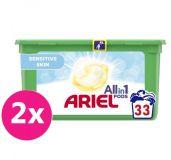 2x ARIEL Allin1 Pods Sensitive kapsle na praní 33 ks
