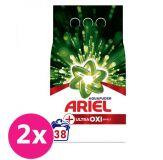 2x ARIEL Prášek na praní AquaPuder Ultra OXI effect, 38 praní