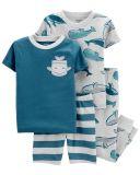 CARTER'S Pyžamo dlhé a krátke nohavice, krátky rukáv 2ks Whale chlapec 24m