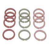 LITTLE DUTCH Spojovací kroužky řetěz Pink