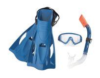 BESTWAY Set šnorchlovací - plutvy, okuliare, šnorchel modrý
