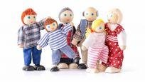 WOODY Bábiky do domčeka, 6 ks