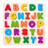 WOODY Puzzle ABC- písmena na desce
