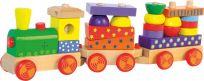 WOODY Vlak skládací s potiskem, světlem a zvukem - dva vagony