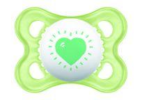 MAM Dudlík Love & Affection 0-6 m, silikon zelené srdce