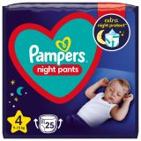 PAMPERS Night Pants Veľkosť 4, 25 ks, 9-15  kg