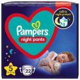 PAMPERS Night Pants Veľkosť 5, 22 ks, 12-17  kg
