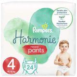PAMPERS Harmonie Plienkové nohavičky Veľkosť 4, 24 ks, 9-15  kg