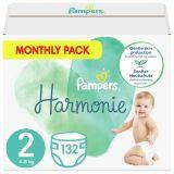 PAMPERS Harmonie Veľkosť 2, 132 ks, 4-8  kg