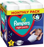PAMPERS Night Pants Veľkosť 4, 100 ks, 9-15 kg