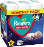 PAMPERS Night Pants Veľkosť 6, 76 ks, 15 kg+